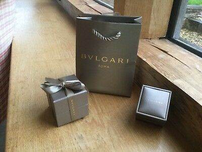 Bvlgari bag, ring box and box cover