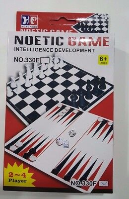 Chess Set Box Kids Toy Folding Plastic Educational Learning Child Play Game New