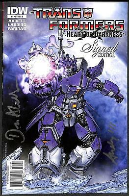 Transformers: Heart of Darkness #1 1:10 Variant Signed Edition VFN