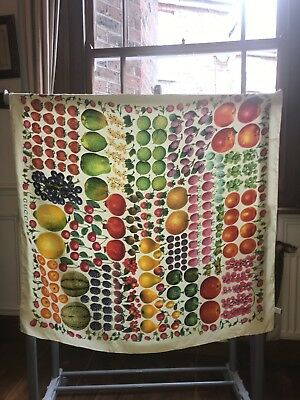 Gucci Silk Scarf Fruits Vintage 100% Genuine