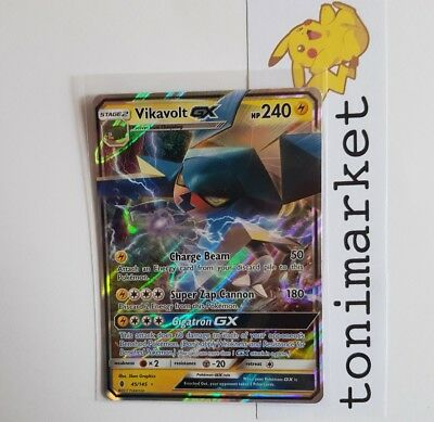 Vikavolt GX RARA 45/145 Carta Pokemon Guardiani Nascenti ING MINT NUOVA!!