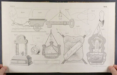 German Victorian 1897 Paperwork and Fancywork Desk Accessories & Gifts Making