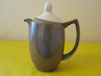 BRANKSOME Brown&Cream COFFEE/HOT WATER POT 1.25Pt approx, hardly used in VGC