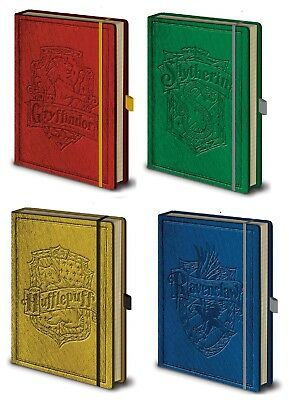 Official Harry Potter Premium Hogwarts House A5 Lined Notebooks HP Film Gift