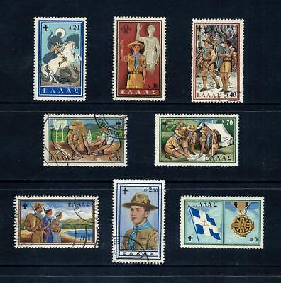 GREECE _ 1960 'SCOUT' SET of 8 _ mh-used ____(501)