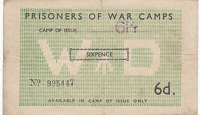 2nd World War Prisoners of War Camp No614 Bank Note Violet POW Camp 614 GB Cance