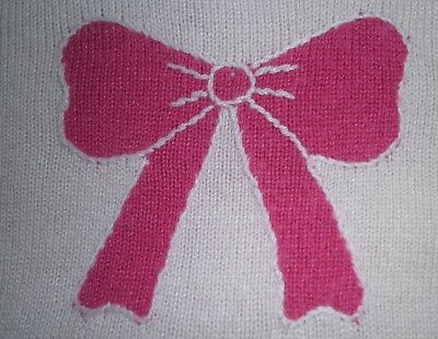 Janie and Jack 5 Vest Pink Pullover Rabbit Hair Cotton Bow Sweater Girl Preowned