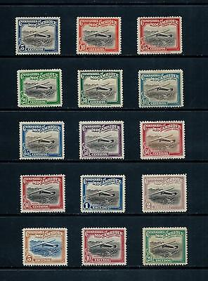 MOZAMBIQUE CO. _ 1935 'AIR' SET of 15 _ mh ____(501)