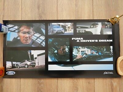 2 x Ford Puma - Steve McQueen Posters from 1997 TV advertisement.
