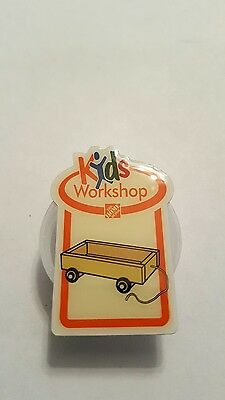 Home Depot Kids Workshop pin. Wooden wagon pin. $4 flat rate combined shipping