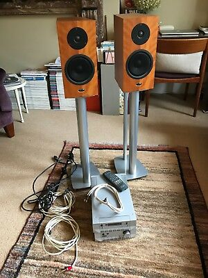 Range topping Cyrus CD player stereo system plus Lynn Speakers and stands.