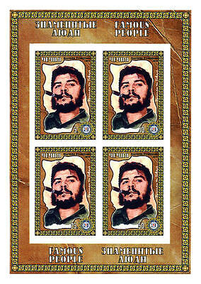 Chechenia 2010 Sheet Imperf Famous People Che Guevara