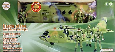 Cargo Plane with sound and light Men Army Toy Soldiers Jet Plane - Christmas NEW