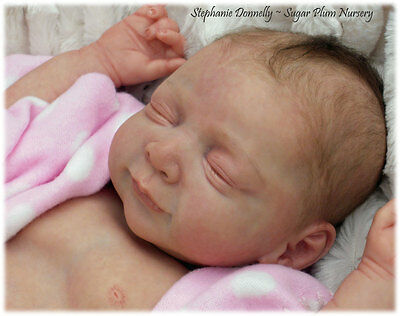 Reborn Baby Lifelike Realistic Vinyl doll kit Stephanie *Phil Donnelly Babies*