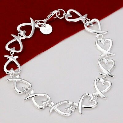 Wholesale Jewelry 925 Silver Charm Bracelets Lover Couples Gifts
