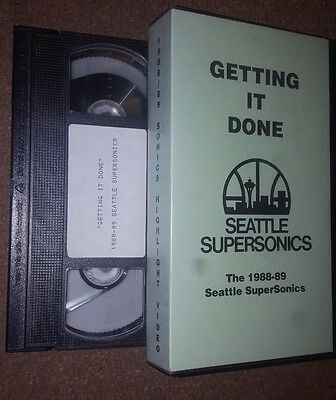 THE 1988-89 SEATTLE SUPERSONICS Getting It Done VHS