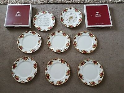 ROYAL ALBERT  Dinner service of 6 plates a Clock and 1997 Calendar with Boxes