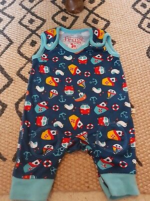 frugu kneepatch dungarees newborn organic cotton unisex seaside retro