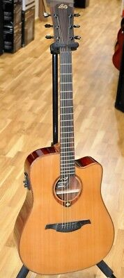 Lag T100DCE NAT/ Lâg T100 DCE Dreadnought Electric Acoustic Guitar - New!