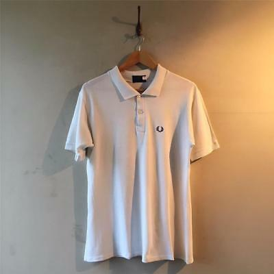 True Vintage 1980s Men's Fred Perry White Polo Shirt Top S- M/ M 36 38