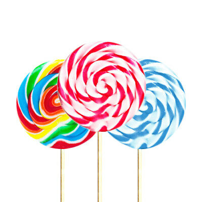 Giant Strawberry Swirl Lollipop - Candy Cane Lolly Party Bag Filler Rock Sweets