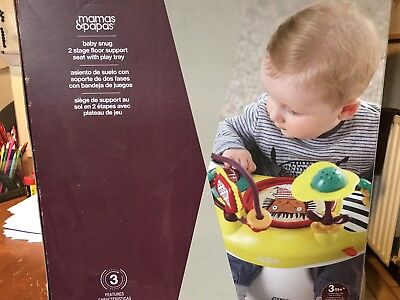 Mamas And Papas Baby Snug Seat Boxed New 3 Months + Learning To Sit & Play Tray