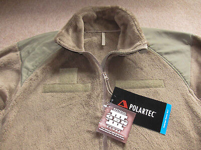 Us Army Ecwcs Multicam Tan Polartec Fleece Jacket- Medium Long New