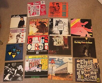 "15 indie 12"" and 10"" vinyl records Fall, Elastica, Verve, Super Furry, Bluetones"