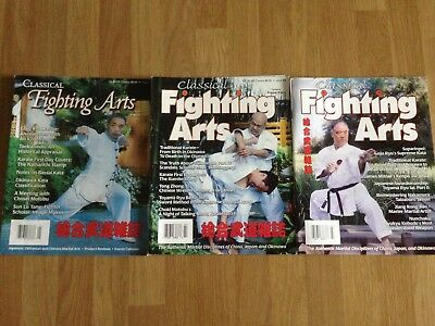 Classical Fighting Arts Magazine - issues 1 - 3 - Okinawan Karate, Goju, Uechi