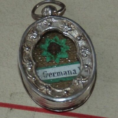 486) Old sterling silver reliquary 1st class relic  St Germaine Cousin Of Pibrac