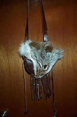 Black Powder, Mountain Man ,coyote Face,  Leather Possible Bag