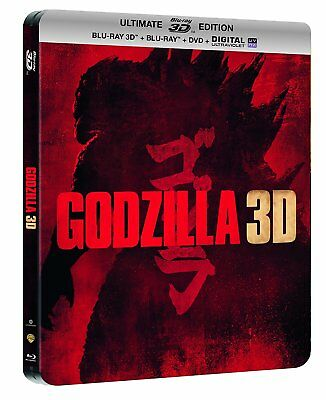Blu-ray - Godzilla - Steelbook Ultimate Edition - Blu-Ray 3D + Blu-Ray + DVD + D
