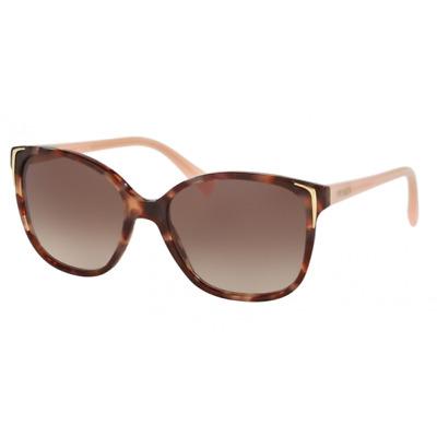 Prada Sunglasses SPR 01O UE0-0A6 Spotted Brown Pink/Brown Gradient 55-17-140 mm