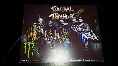 SUICIDAL TENDENCIES SIGNED FULL BAND Promo Card 2017 SLAYER INFECTIOUS GROOVES
