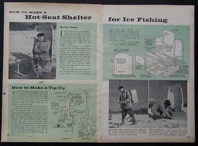 Ice Fishing Hot Seat Back Pack & Tip-Ups How-To build PLANS