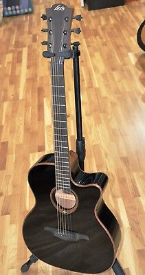Lag T100ACE-BLK / Lâg T100 ACE BLACK Auditorium Electric Acoustic Guitar - New!