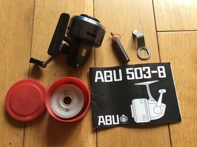 Vintage Abu 506 Closed Face Fishing Reel With Spare Spool & Bits.