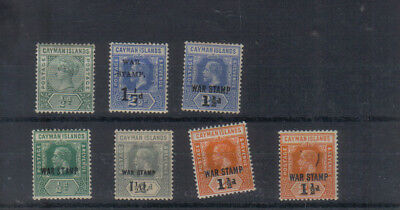 Cayman Islands A few early mint stamps