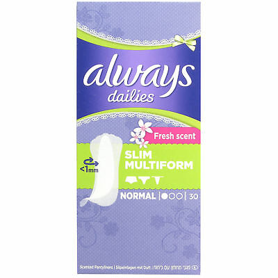 Always Dailies Fresh Scent Slim Multiform 30 pack
