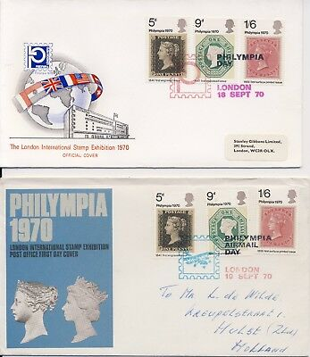 VK / UK - 2 Covers - London / International Stamp Exhibition Philympia (1970)