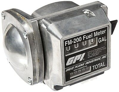 GPI Mechanical Fuel Meter — 3/4in. Inlet/Outlet, 4 to 20 GPM