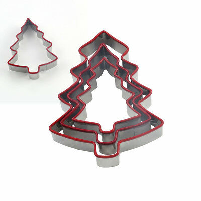Christmas Tree Biscuit Pastry Cake Cookie Cutter Small/Medium/Large 3pcs