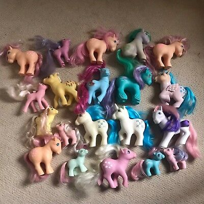 G1 Vintage My Little Pony Bundle #3 Including Princess, Salty, Seashell & More