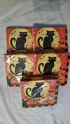 Great Halloween Cat Napkins LOT See Scans