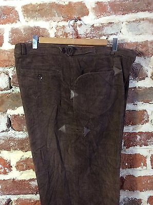 Vtg French Work Wear Chore Corduroy Trousers Pants Peasant Workers Hobo 2XL W 42