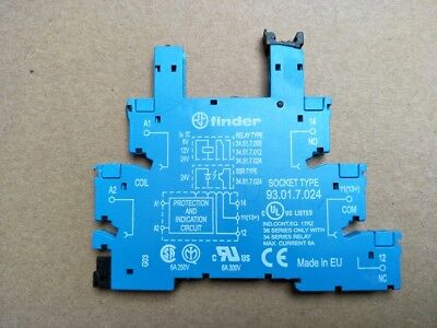 93.01.7.024 Relay Socket for Finder Type34.51 Relays x 1pc
