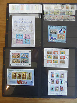 Isle of Man Five sets and four miniature sheets unmounted mint