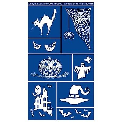 Armour Rub 'n' Etch Glass Etching Stencil ~ Halloween 20-0121