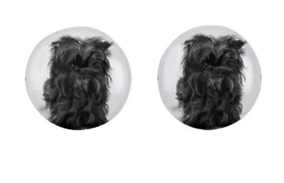 Stud Earrings - Affenpinscher