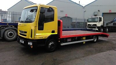 2011 Iveco 75E16 with brand new lightweight beaver tail body and winch.